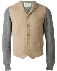 Chaleco de vestir de lana marrón claro de Kolor