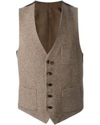 Chaleco de vestir de lana marrón