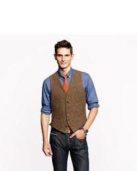 Chaleco de vestir de lana marrón de Ludlow