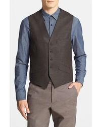 Chaleco de vestir de lana marrón de Ted Baker