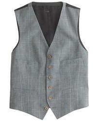 Chaleco de vestir de tartán gris de Ludlow