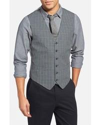 Chaleco de vestir de tartán gris de Todd Snyder