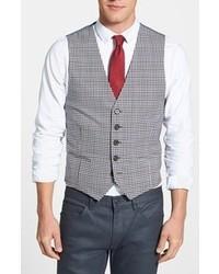 Chaleco de vestir de tartán gris de Wallin & Bros.