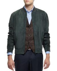 Chaleco de vestir de tartán marrón de Brunello Cucinelli