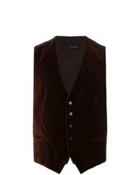 Chaleco de vestir de terciopelo en marrón oscuro de Tagliatore