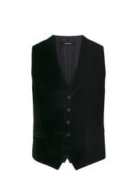 Chaleco de vestir de terciopelo negro