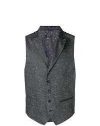 Chaleco de vestir en gris oscuro de John Varvatos