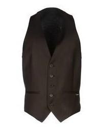 Chaleco de vestir en marrón oscuro