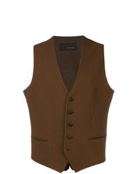 Chaleco de vestir en marrón oscuro de Tagliatore
