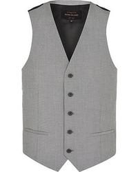 Chaleco de vestir gris