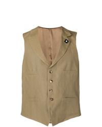 Chaleco de vestir marrón claro de Lardini