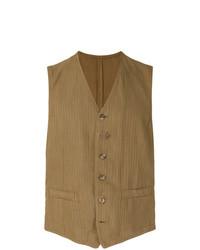 Chaleco de vestir marrón de Lardini