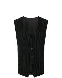 Chaleco de vestir negro de Homme Plissé Issey Miyake