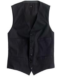 Chaleco de vestir negro de J.Crew