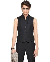 Chaleco de vestir negro de John Varvatos