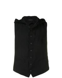 Chaleco de vestir negro de Yohji Yamamoto