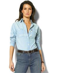 Chambray button down blouse original 4303374
