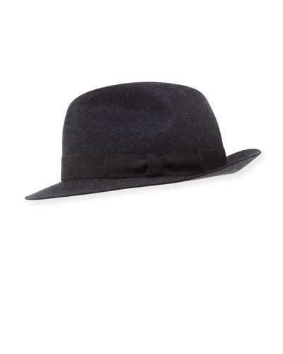 Chapeau bleu marine Loro Piana