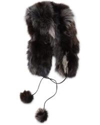 Chapeau de fourrure noir Pologeorgis