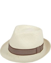 Chapeau de paille beige Barneys New York