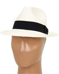 Chapeau de paille blanc et noir Goorin Bros.
