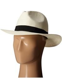 Chapeau de paille blanc et noir Lauren Ralph Lauren