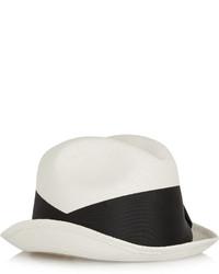 Chapeau de paille blanc et noir Sensi