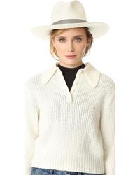 Chapeau de paille blanc Janessa Leone