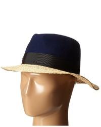 Chapeau de paille bleu marine Kate Spade