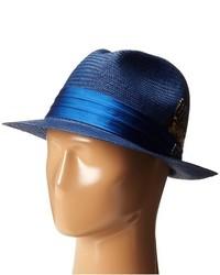 Chapeau de paille bleu marine Stacy Adams