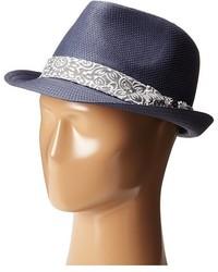 Chapeau de paille bleu marine Ted Baker