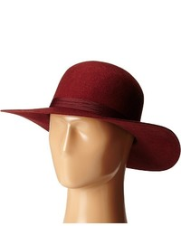 Chapeau en laine bordeaux Brixton