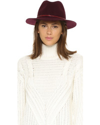Chapeau en laine bordeaux Hat Attack