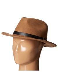 Chapeau en laine brun clair Brixton