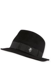 Chapeau en laine noir Philip Treacy