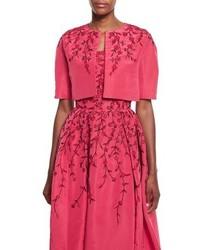 Chaqueta con print de flores rosa de Oscar de la Renta