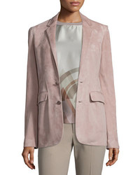 Chaqueta de ante rosada de Ralph Lauren