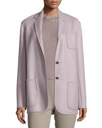 Chaqueta de lana rosada de Ralph Lauren