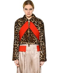Chaqueta de Piel de Leopardo Marrón de Givenchy