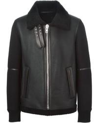 Chaqueta de piel de oveja negra de Givenchy