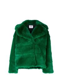 Chaqueta de piel verde de MSGM