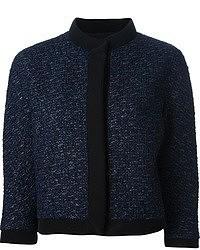 Chaqueta de tweed azul marino
