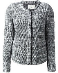 Chaqueta de tweed gris