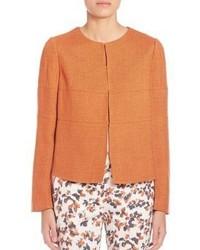 Chaqueta de tweed naranja