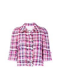 Chaqueta de tweed rosa de MSGM