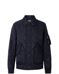 Chaqueta estilo camisa acolchada azul marino de Burberry