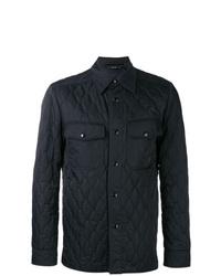 Chaqueta estilo camisa acolchada azul marino de Tom Ford