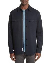 Chaqueta estilo camisa azul marino
