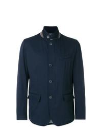 Chaqueta estilo camisa azul marino de Herno