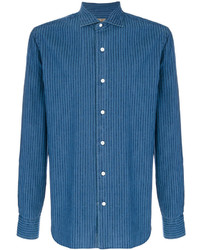 Chaqueta estilo camisa azul